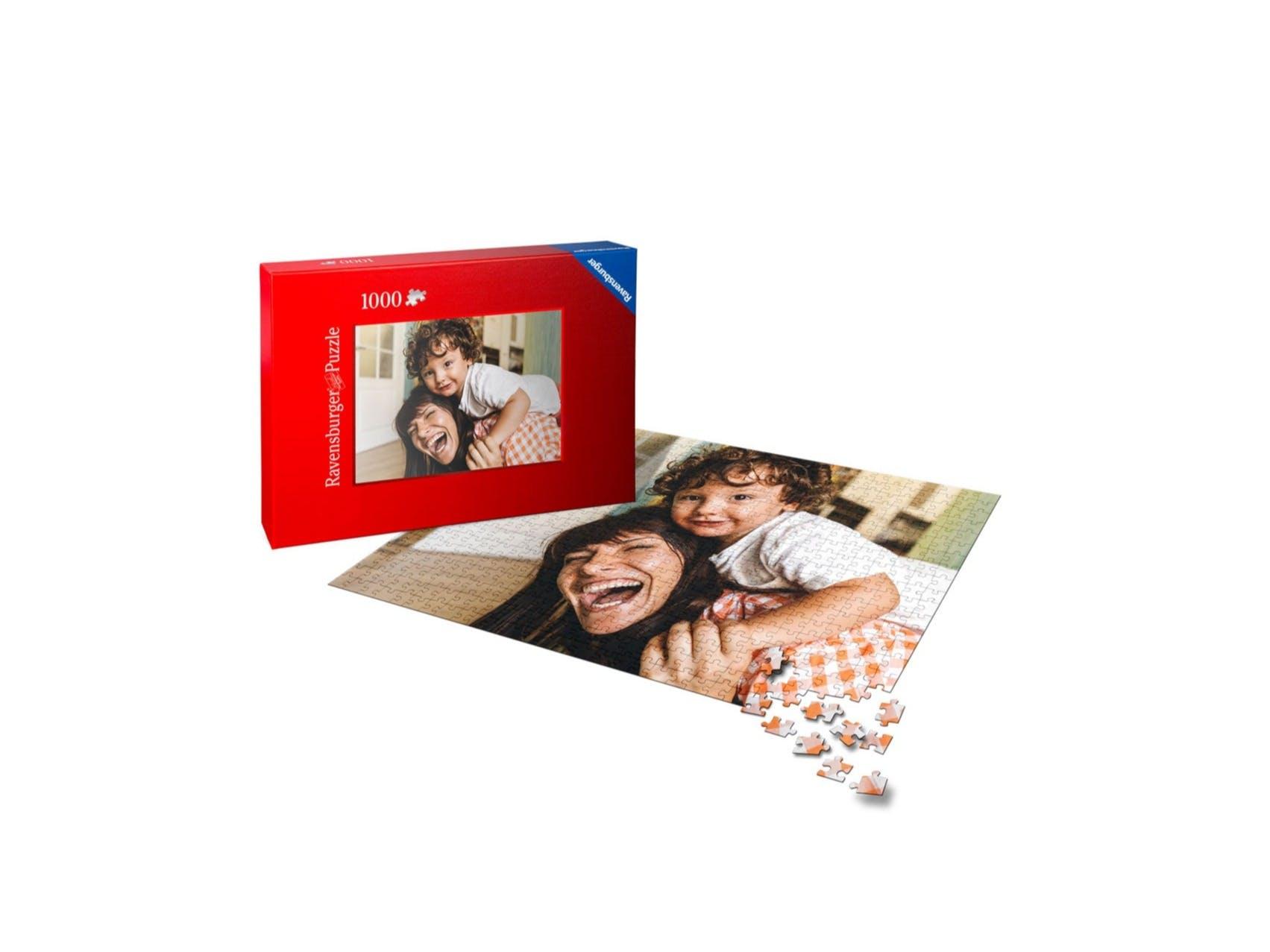Freisteller Fotopuzzle Ravensburger 1000 Teile und Mutter-Kind-Motiv