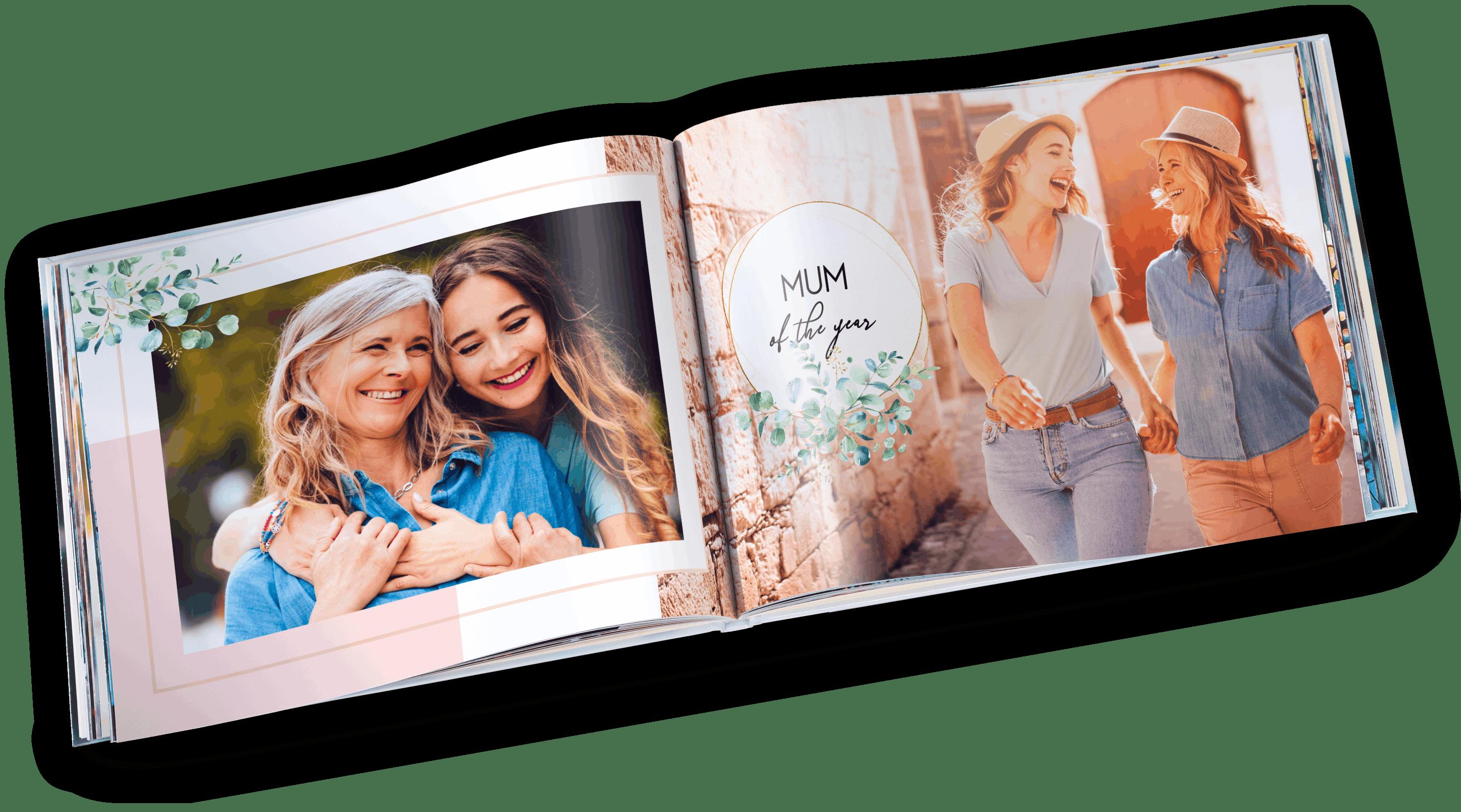 Pixum Fotobuch im Querformat im Muttertag Ambiente