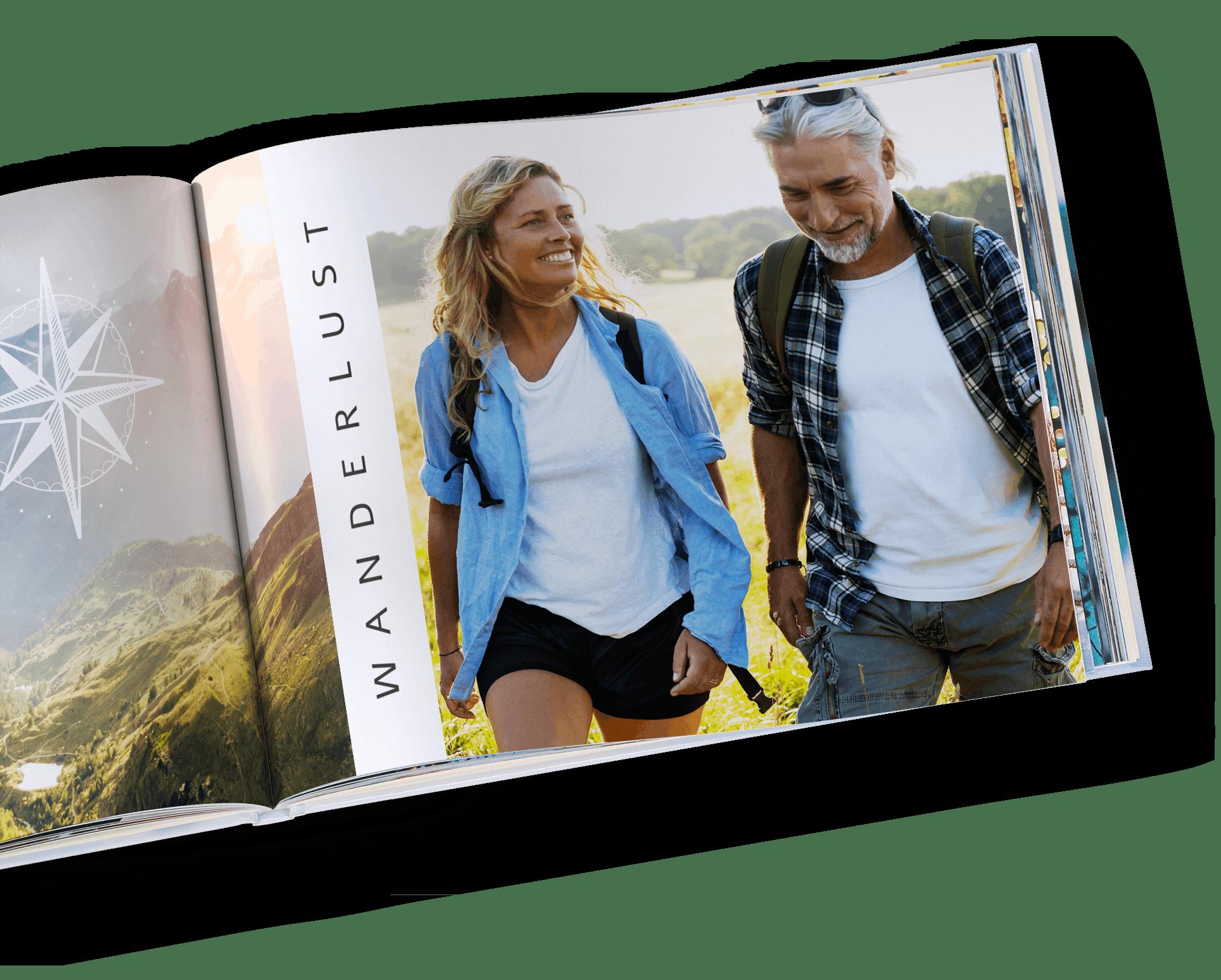 Pixum Fotobuch im Querformat mit Wandern Motiven