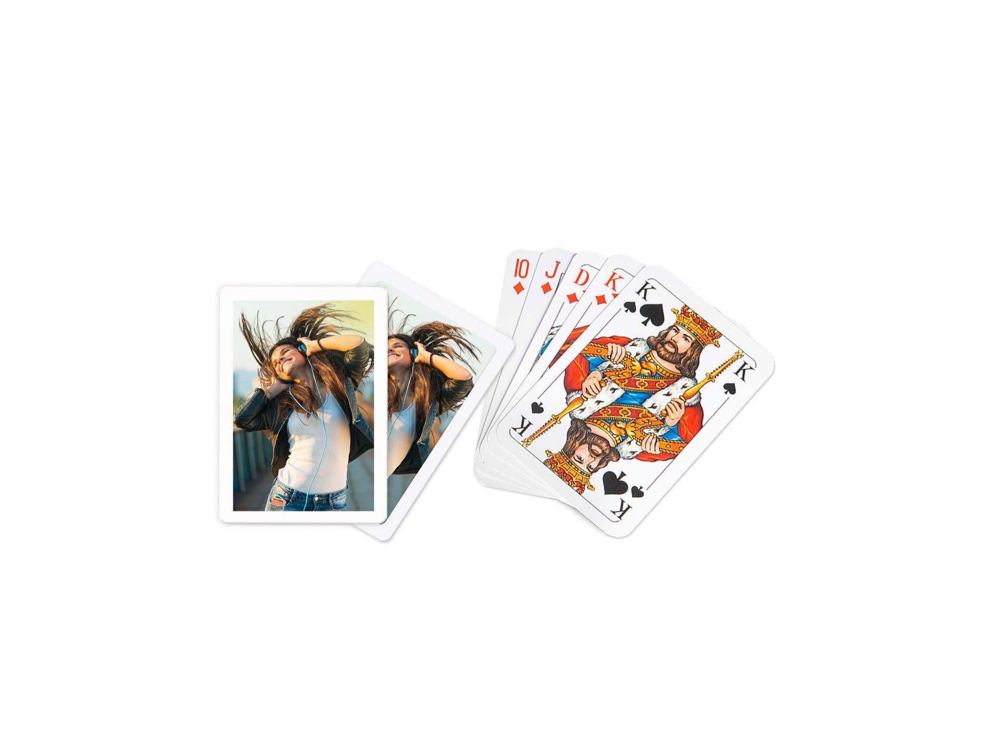 Foto-Pokerkarten neutral als Freisteller