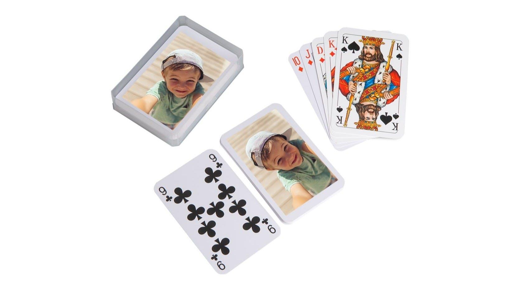 Foto-Spielkarten neutral als Freisteller
