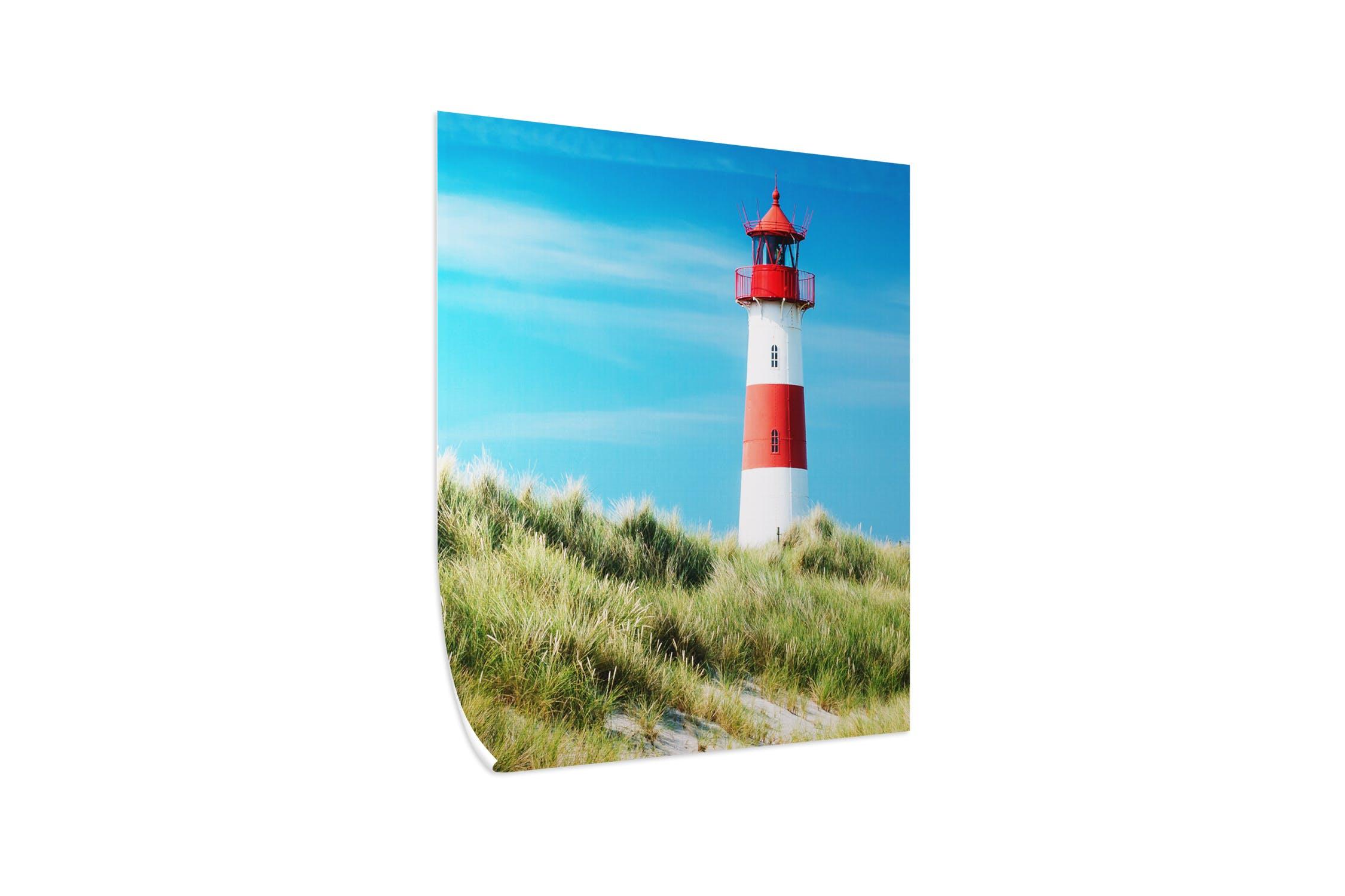 Pixum Fotoposter in seidenmatt mit Leuchtturmmotiv - Freisteller
